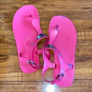 Michael Kors Hot Pink Sandals